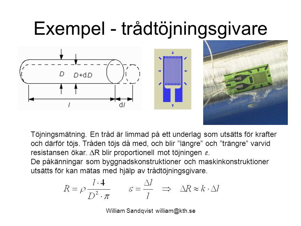 Exempel - trådtöjningsgivare