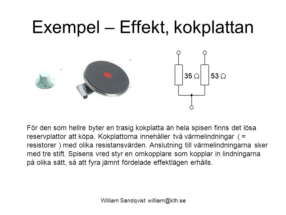 Exempel – Effekt, kokplattan