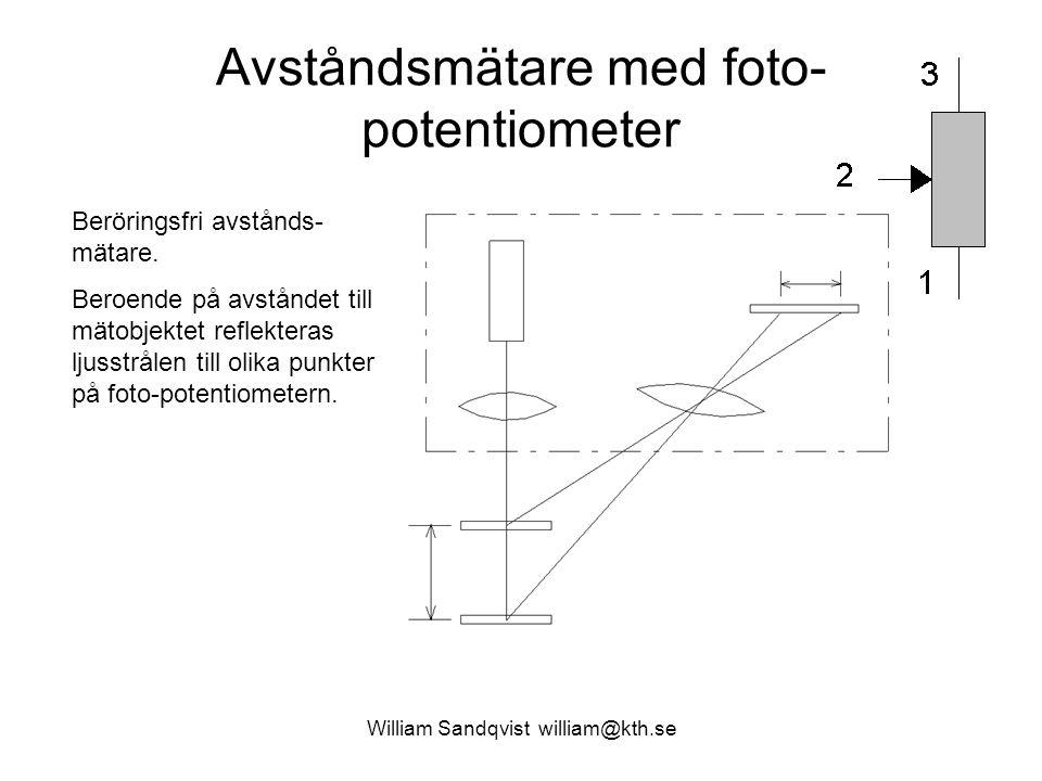 Avståndsmätare med foto-potentiometer