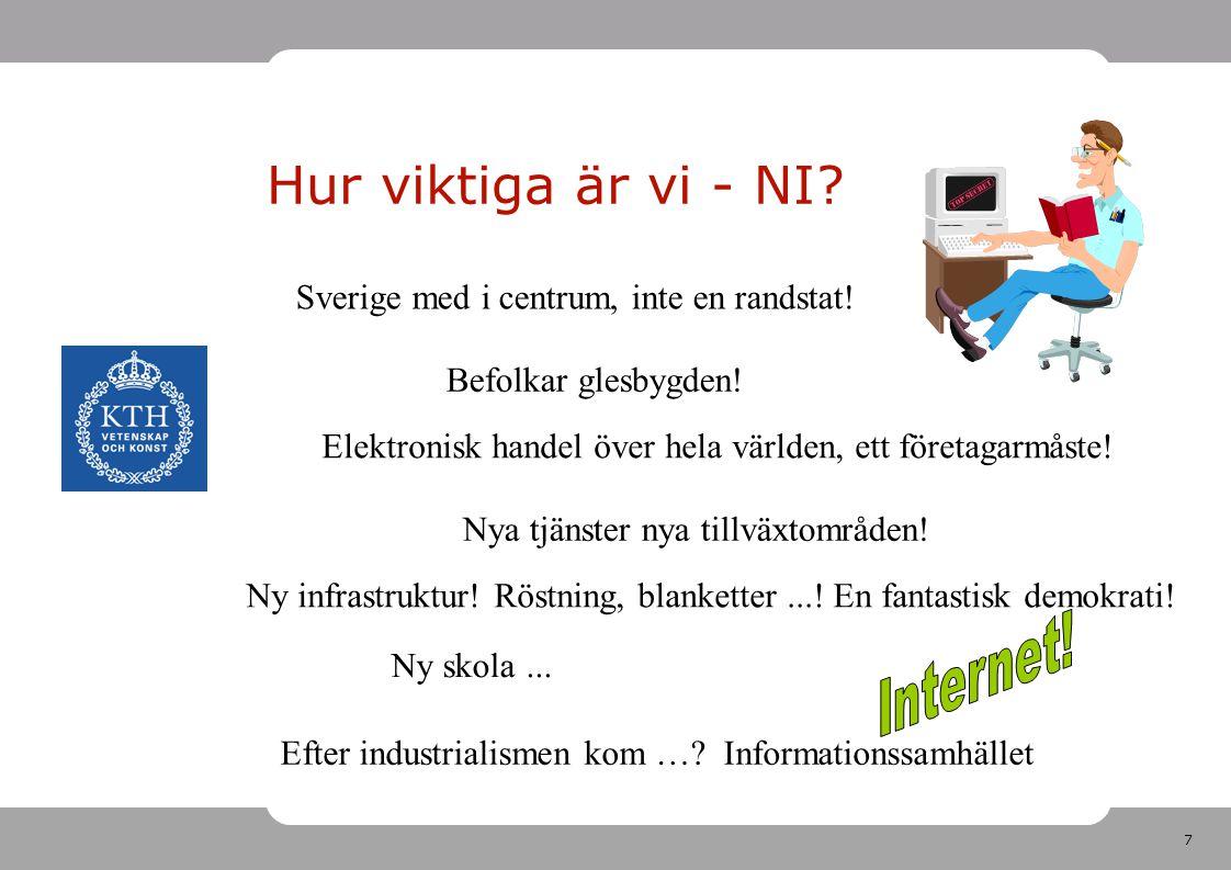 Hur viktiga är vi - NI Internet!