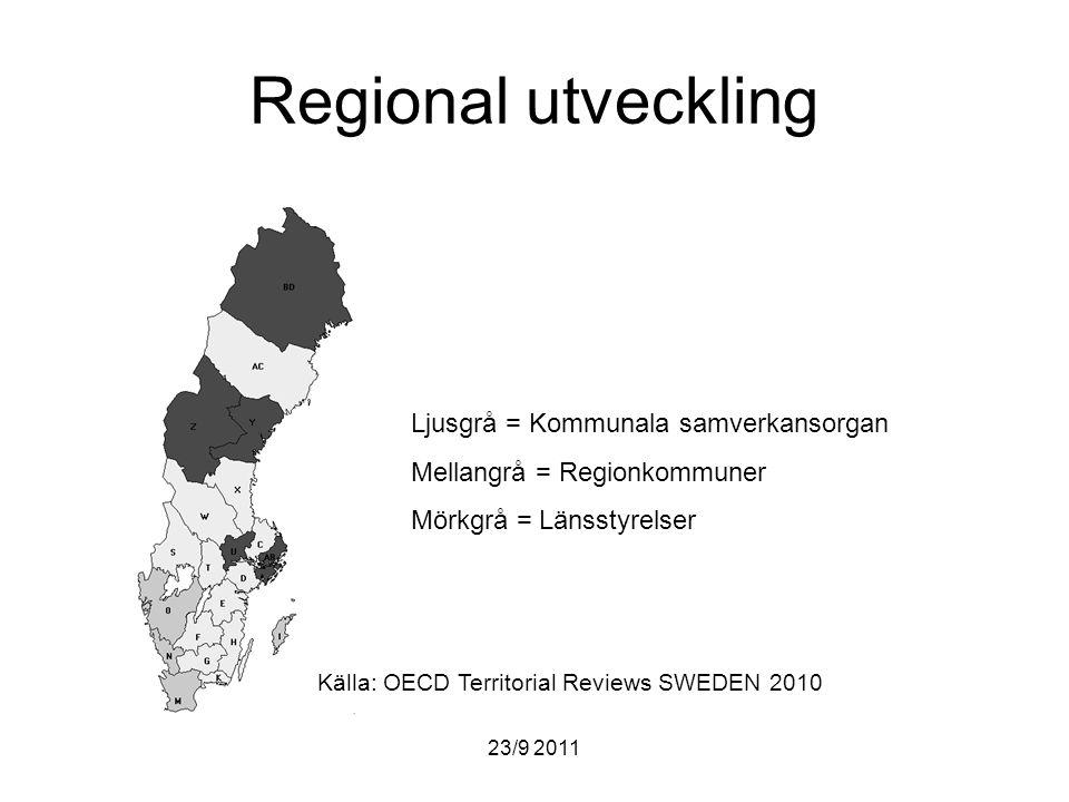 Regional utveckling Ljusgrå = Kommunala samverkansorgan