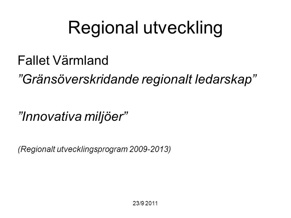 Regional utveckling Fallet Värmland