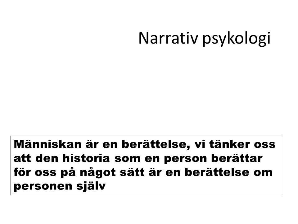 Narrativ psykologi