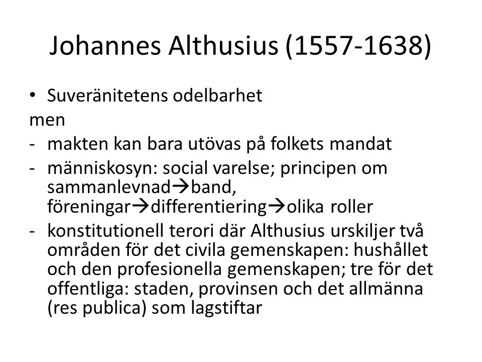 Johannes Althusius (1557-1638)