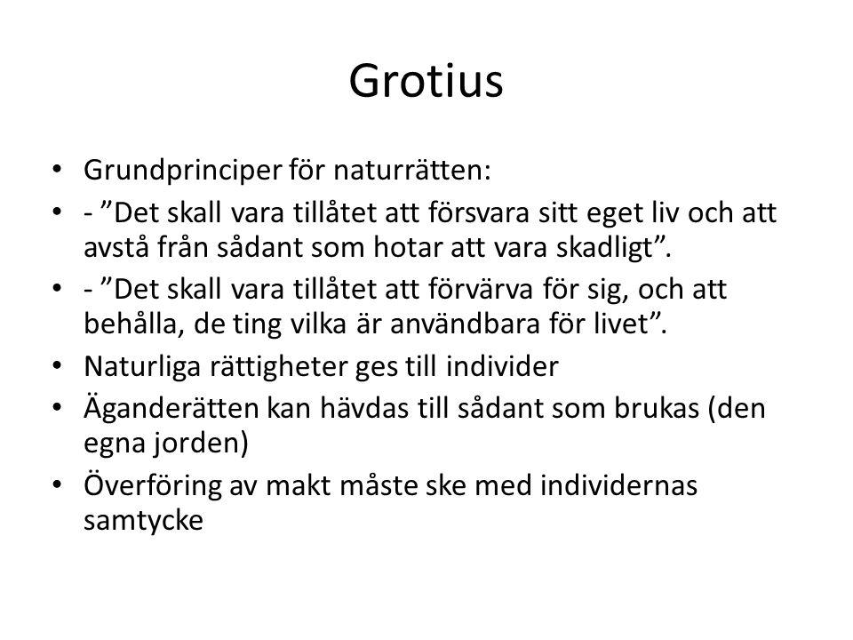Grotius Grundprinciper för naturrätten: