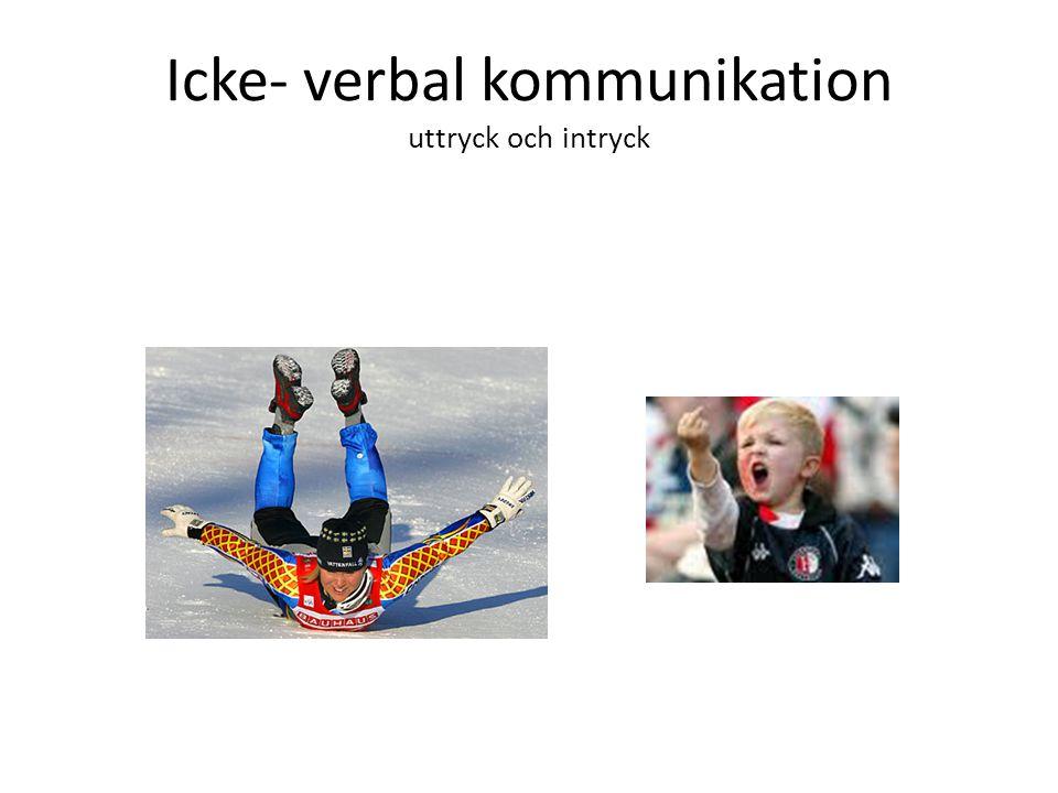 Icke- verbal kommunikation uttryck och intryck