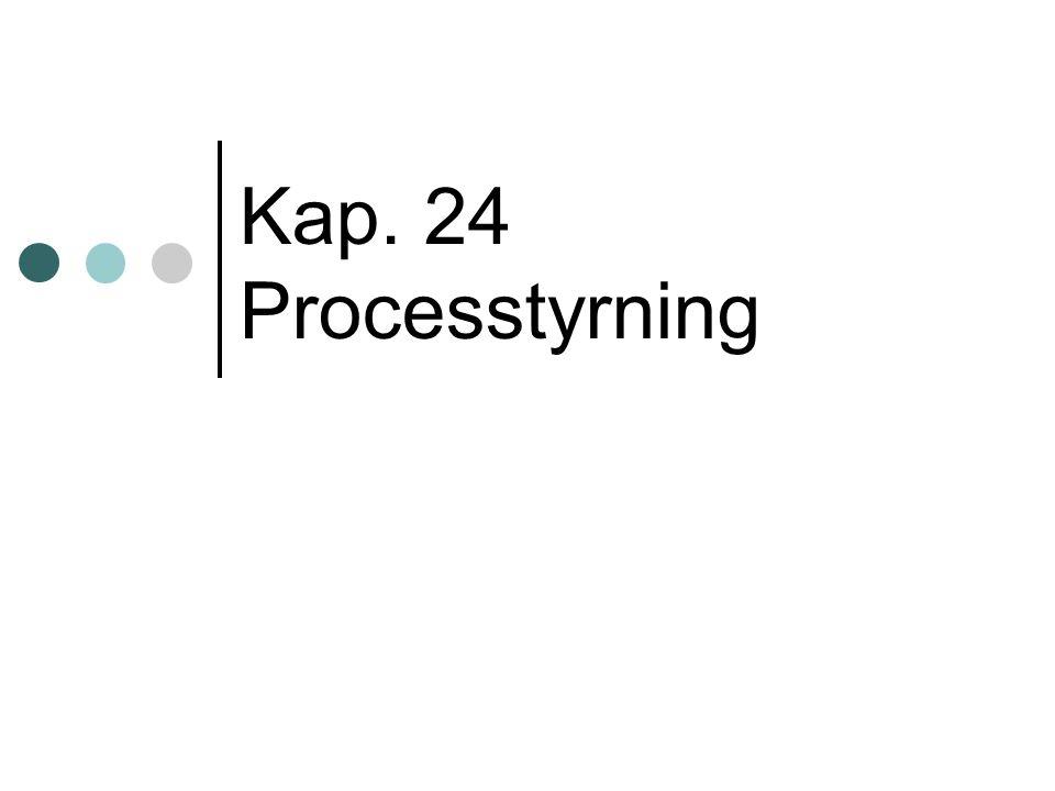 Kap. 24 Processtyrning