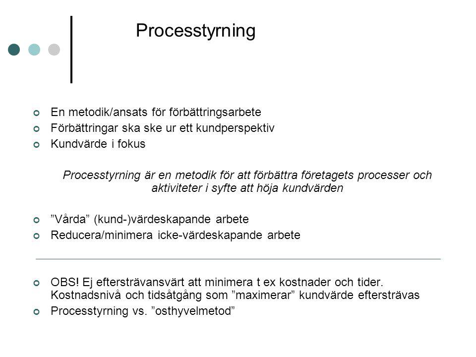 Processtyrning En metodik/ansats för förbättringsarbete