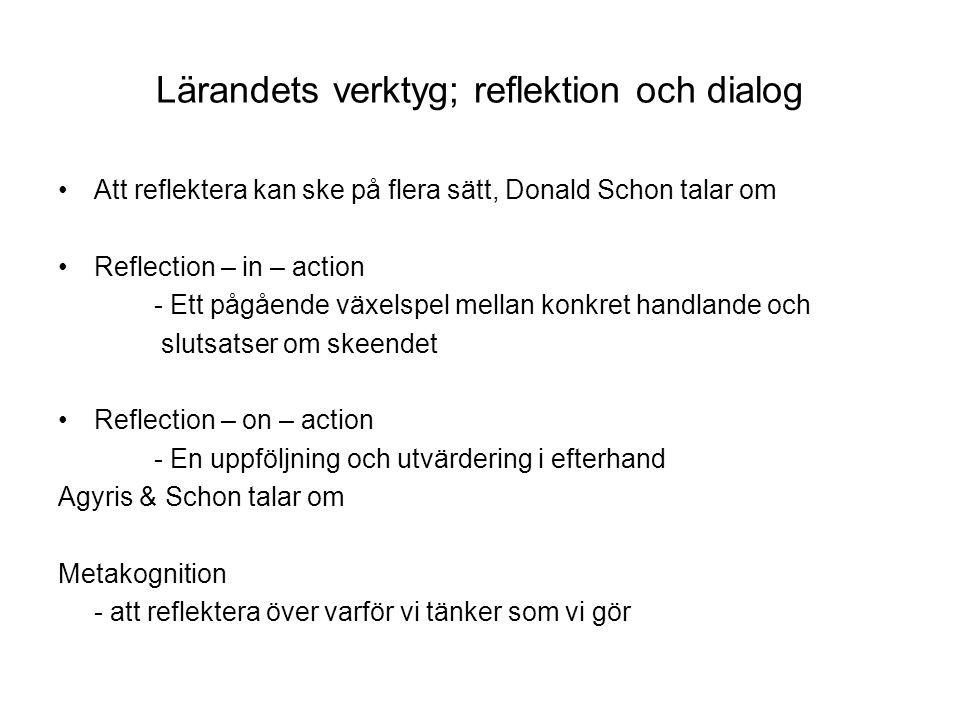 Lärandets verktyg; reflektion och dialog