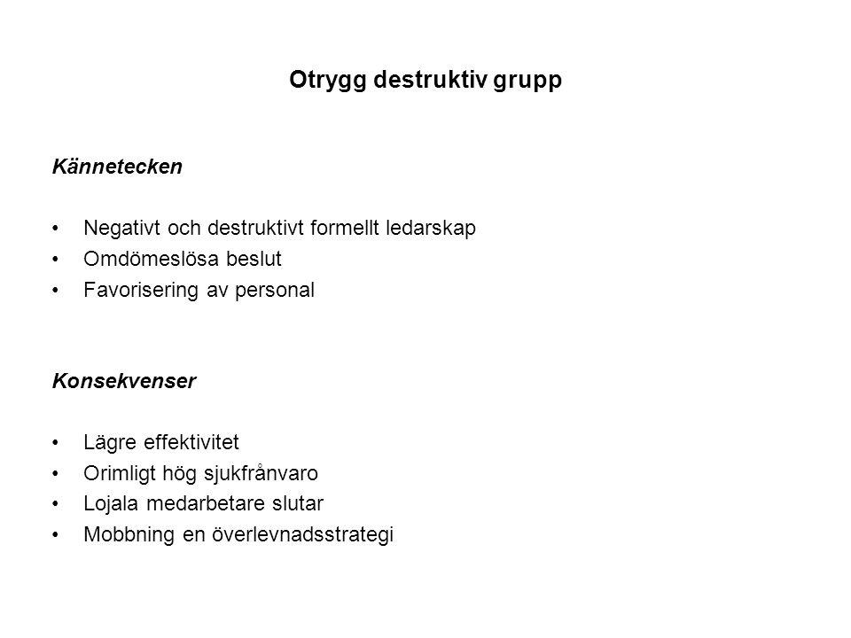 Otrygg destruktiv grupp