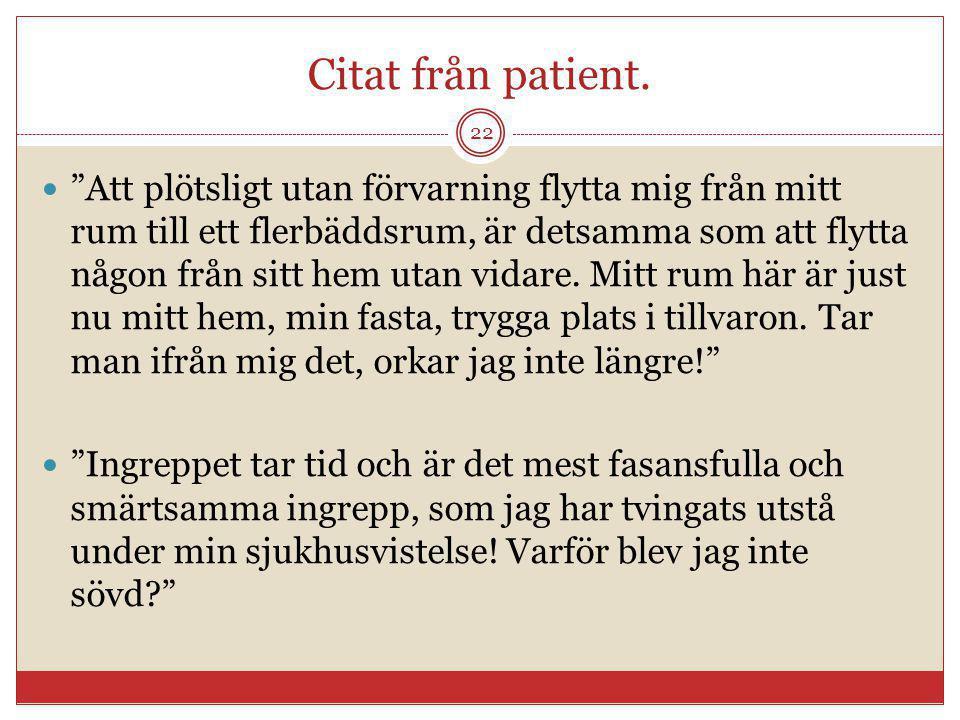 Citat från patient.