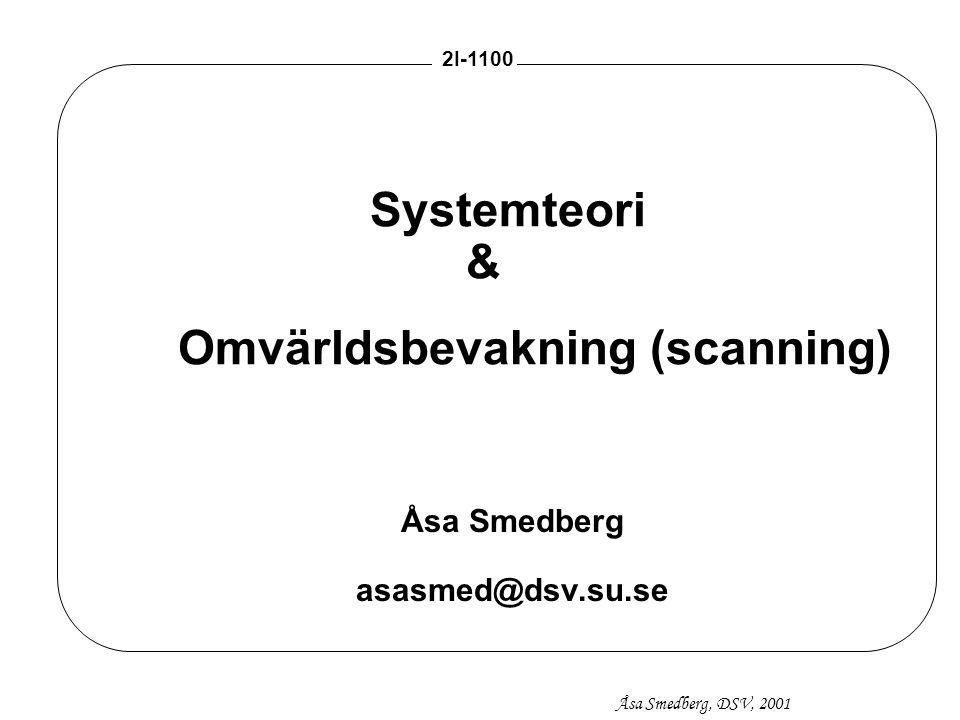 Systemteori & Omvärldsbevakning (scanning)