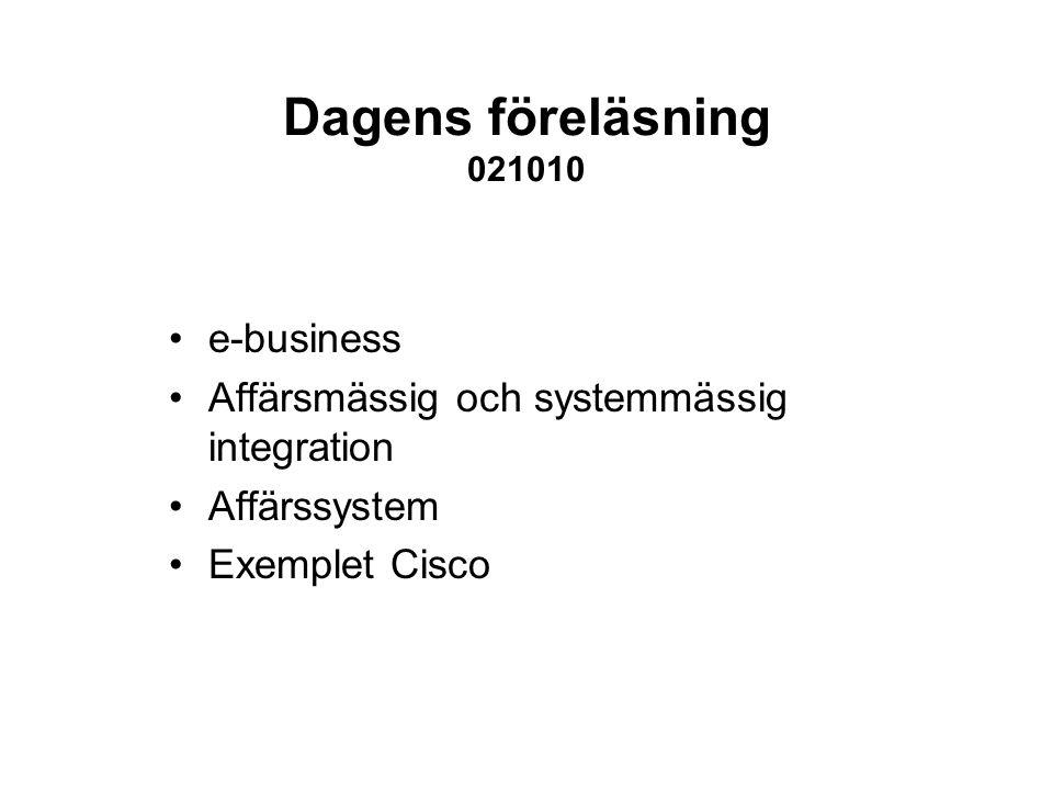 Dagens föreläsning 021010 e-business
