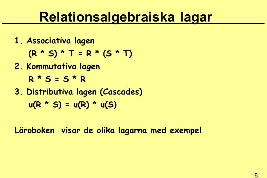 Relationsalgebraiska lagar