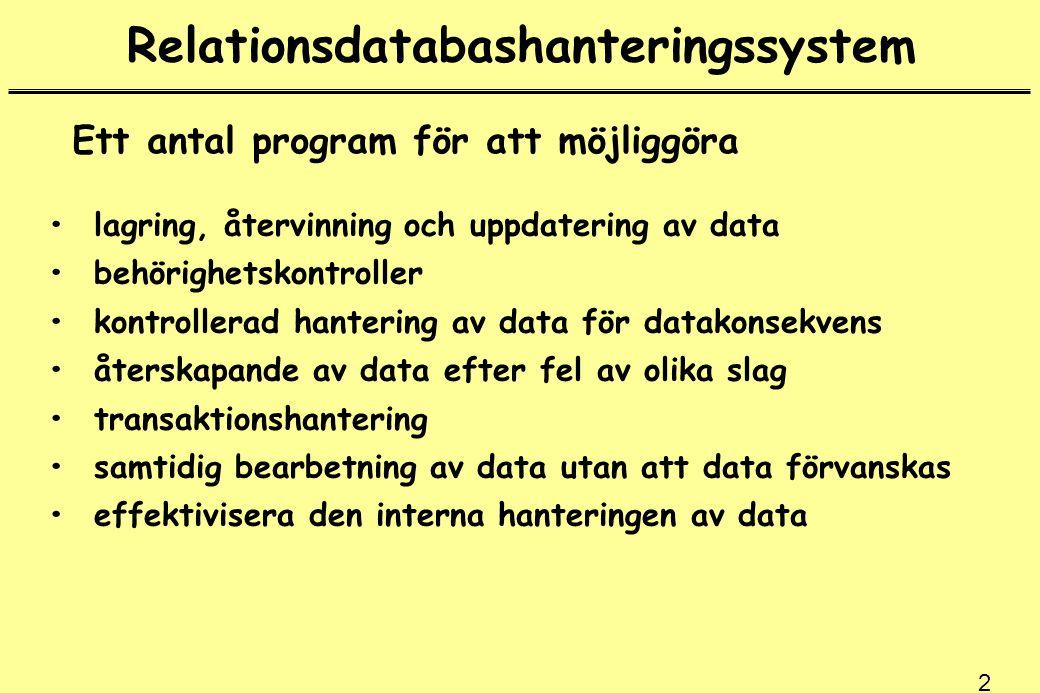 Relationsdatabashanteringssystem