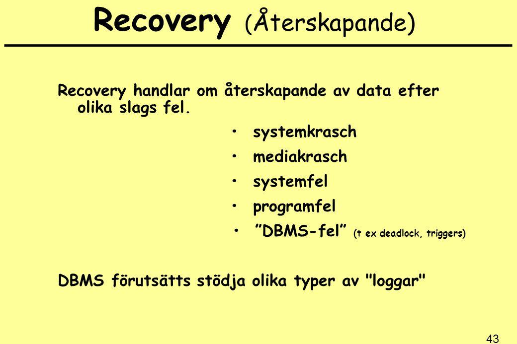 Recovery (Återskapande)