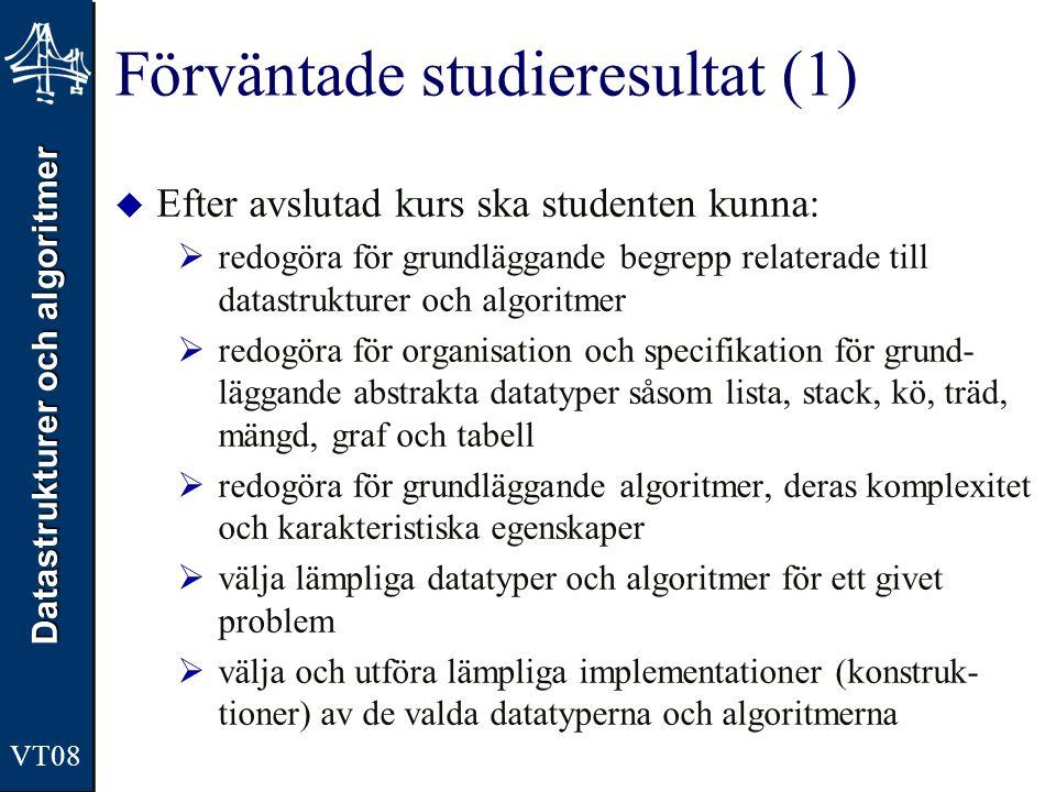 Förväntade studieresultat (1)