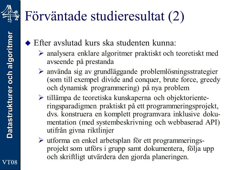 Förväntade studieresultat (2)