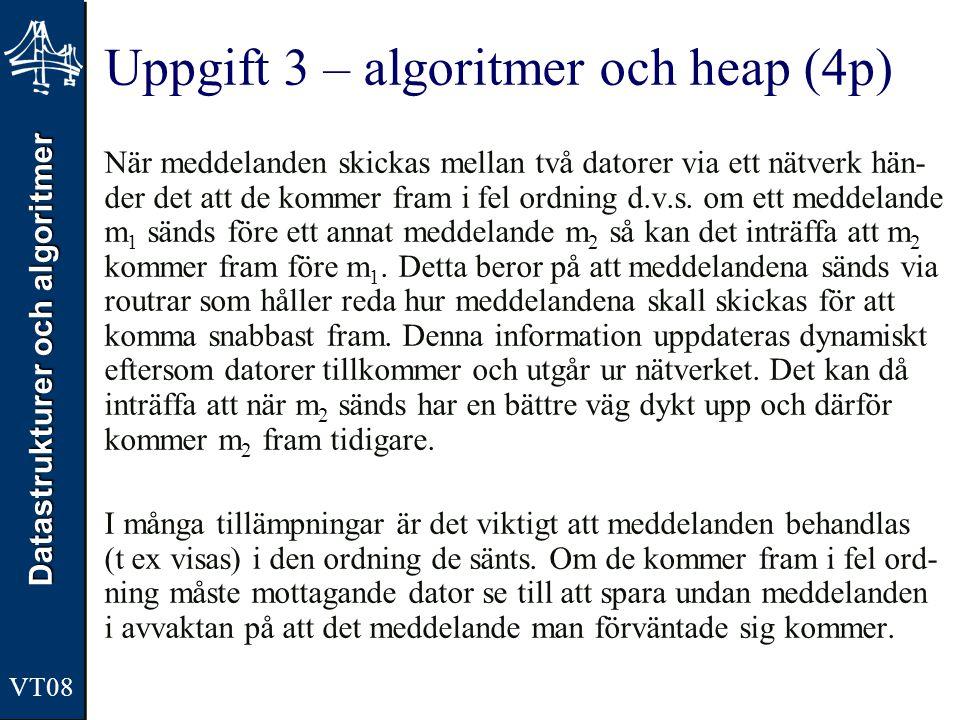 Uppgift 3 – algoritmer och heap (4p)