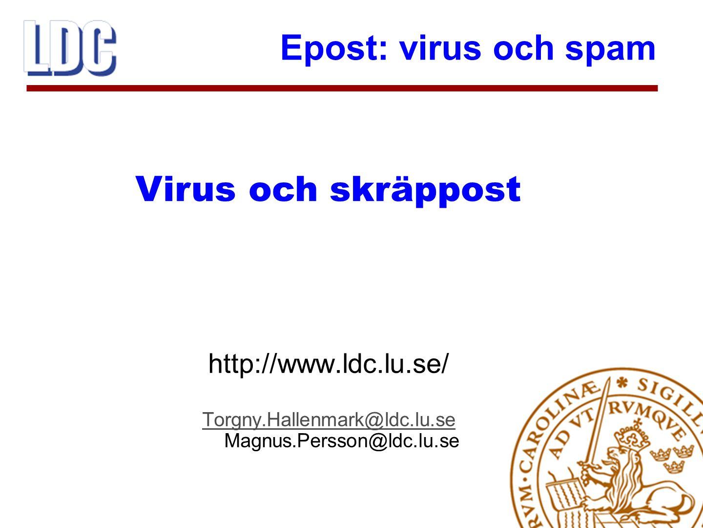 Torgny.Hallenmark@ldc.lu.se Magnus.Persson@ldc.lu.se