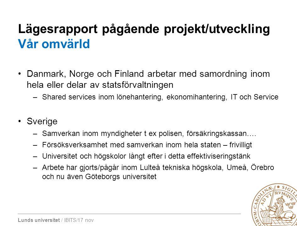 Lägesrapport pågående projekt/utveckling Vår omvärld