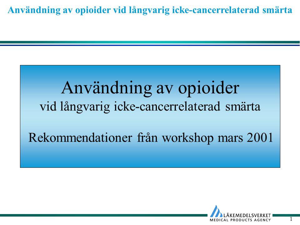 Användning av opioider vid långvarig icke-cancerrelaterad smärta