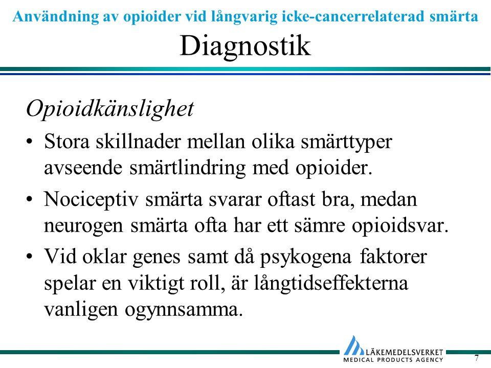 Diagnostik Opioidkänslighet