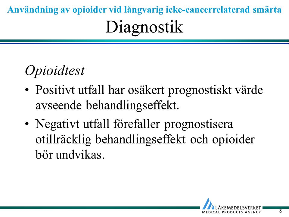 Diagnostik Opioidtest