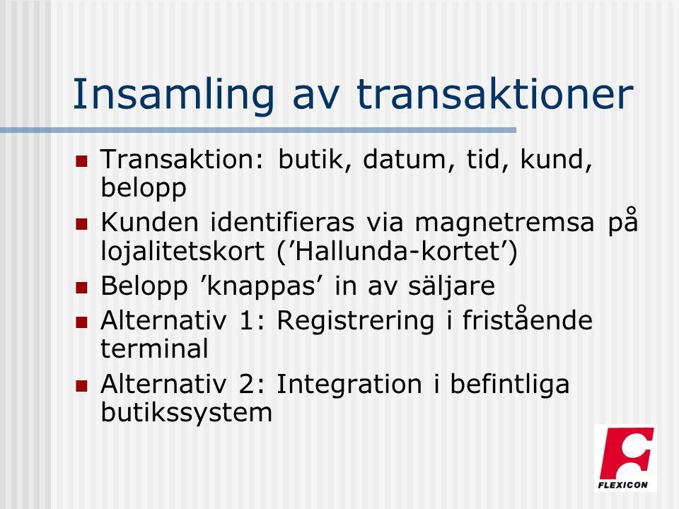 Insamling av transaktioner