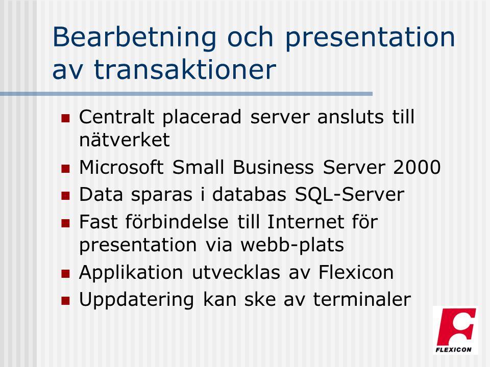 Bearbetning och presentation av transaktioner