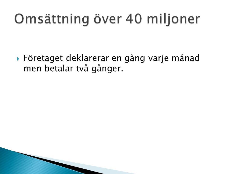 Omsättning över 40 miljoner