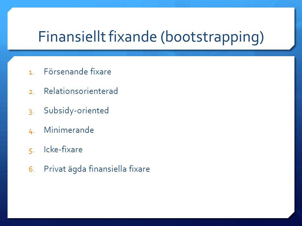 Finansiellt fixande (bootstrapping)