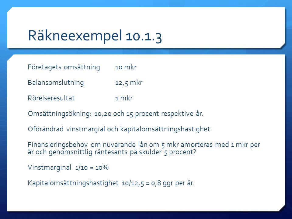 Räkneexempel 10.1.3