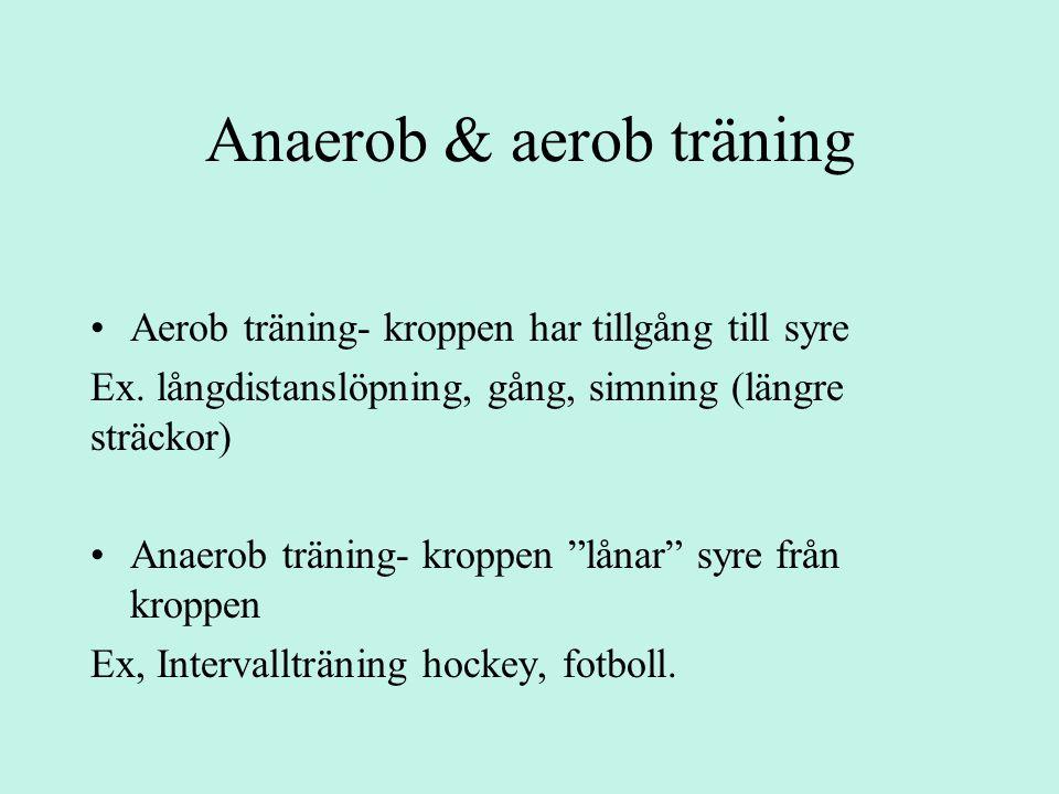 Anaerob & aerob träning