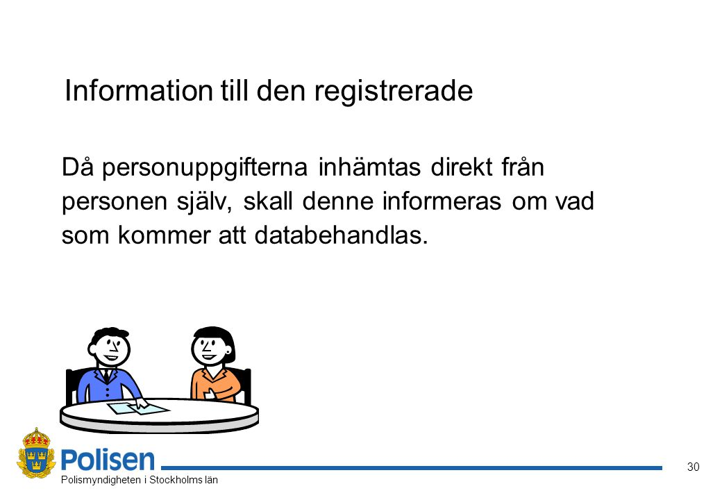 Information till den registrerade