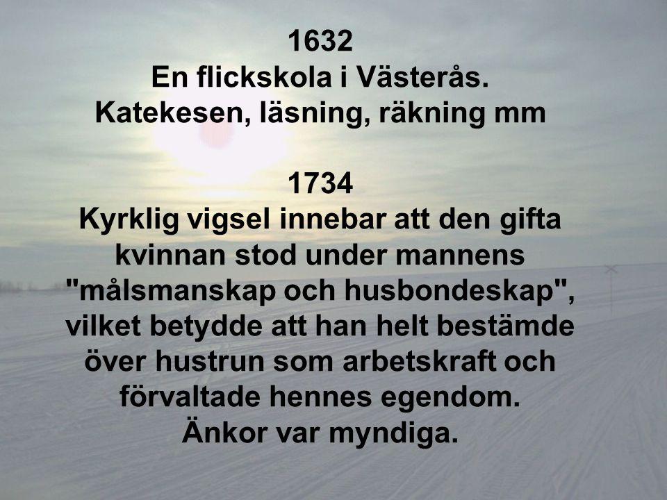 En flickskola i Västerås. Katekesen, läsning, räkning mm