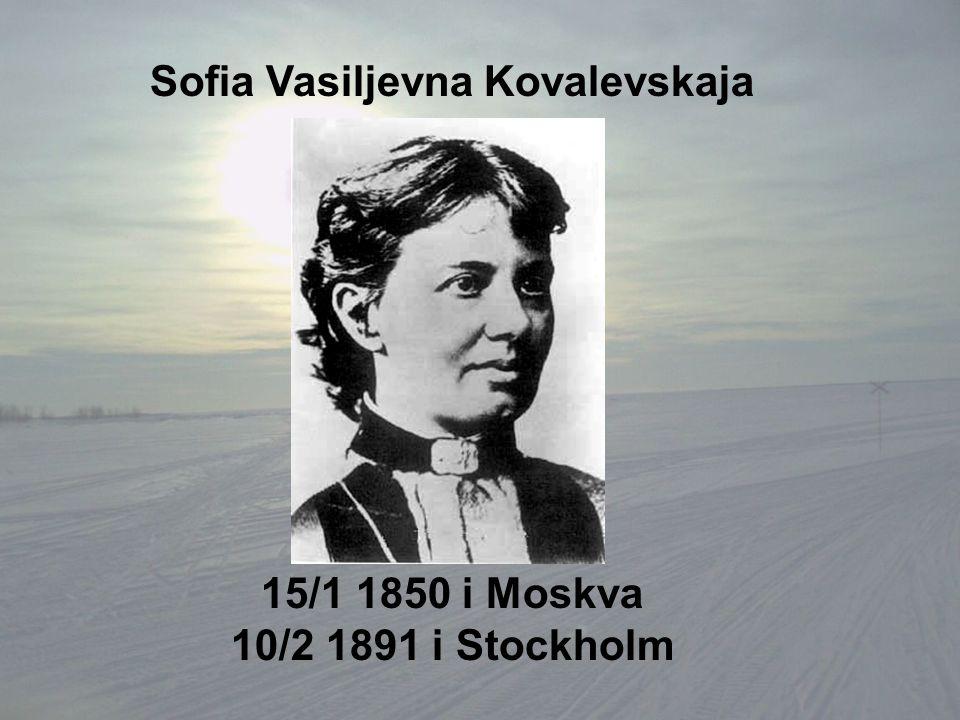 Sofia Vasiljevna Kovalevskaja