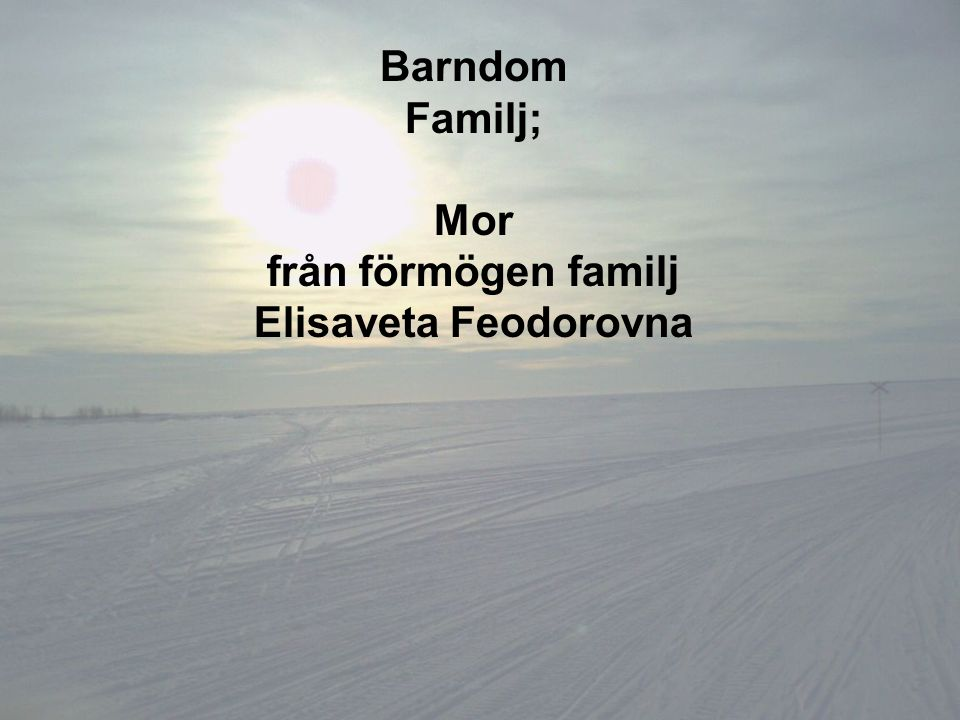 Barndom Familj; Mor från förmögen familj Elisaveta Feodorovna