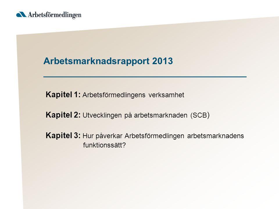 Arbetsmarknadsrapport 2013 _______________________________________