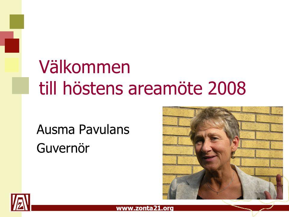 Välkommen till höstens areamöte 2008