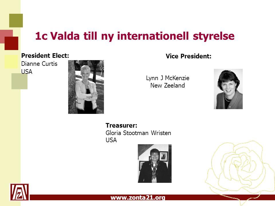 1c Valda till ny internationell styrelse