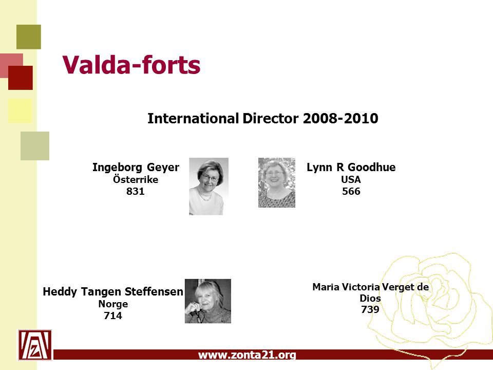 Valda-forts International Director 2008-2010 Ingeborg Geyer