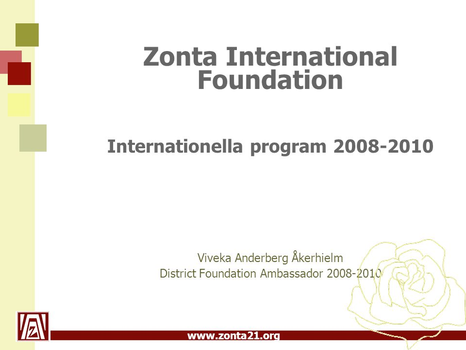 Internationella program 2008-2010