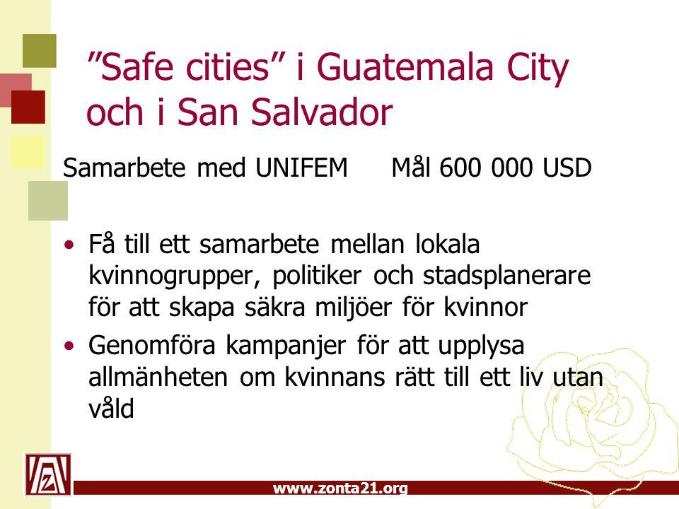 Safe cities i Guatemala City och i San Salvador