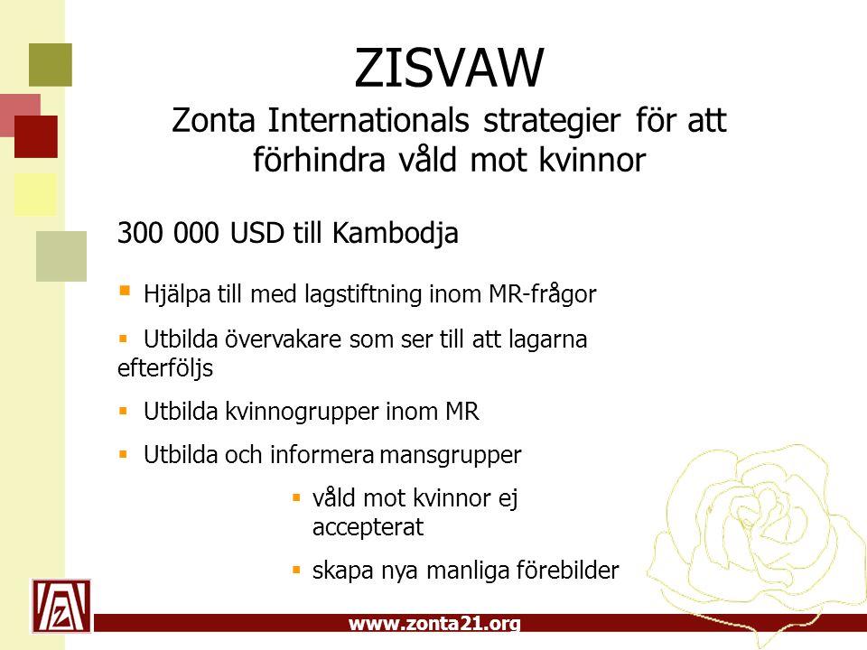 ZISVAW Zonta Internationals strategier för att förhindra våld mot kvinnor