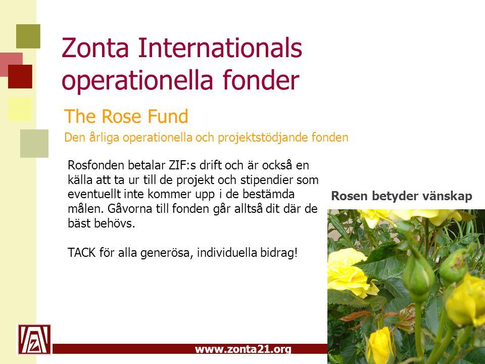 Zonta Internationals operationella fonder