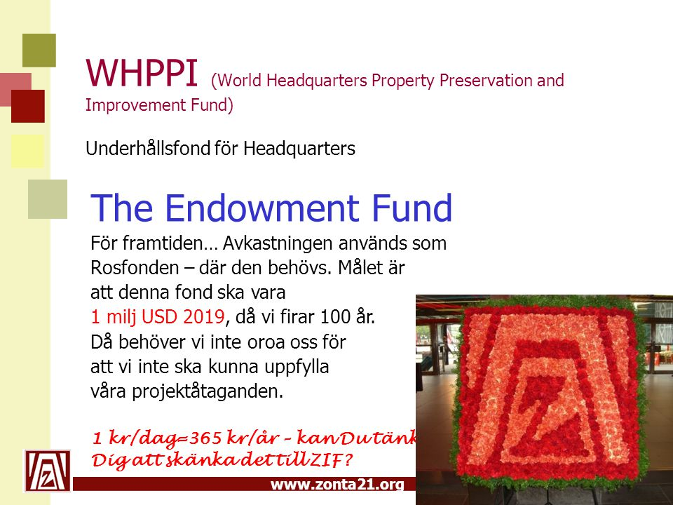 WHPPI (World Headquarters Property Preservation and Improvement Fund) Underhållsfond för Headquarters
