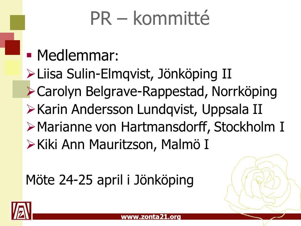 PR – kommitté Medlemmar: Liisa Sulin-Elmqvist, Jönköping II