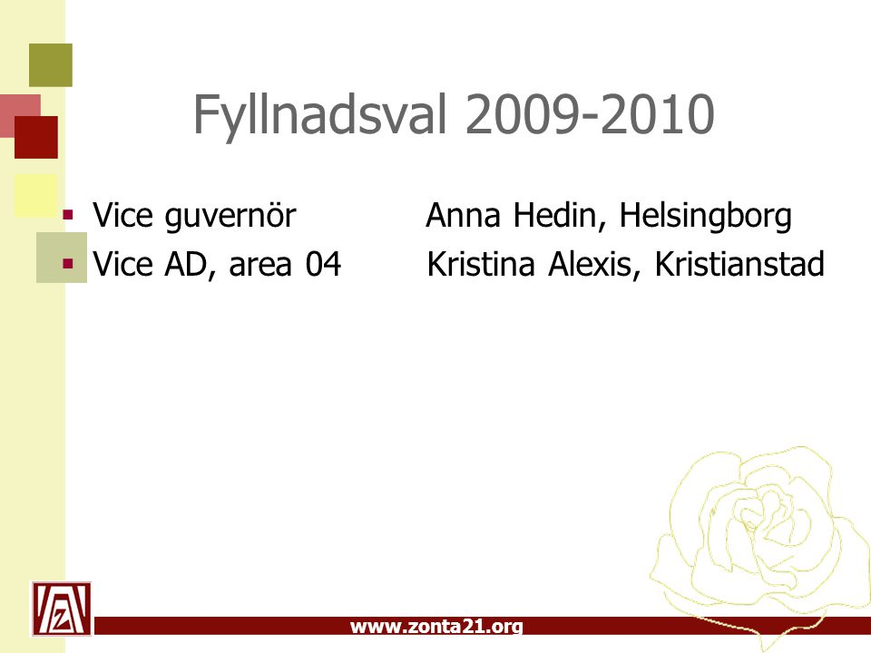 Fyllnadsval 2009-2010 Vice guvernör Anna Hedin, Helsingborg