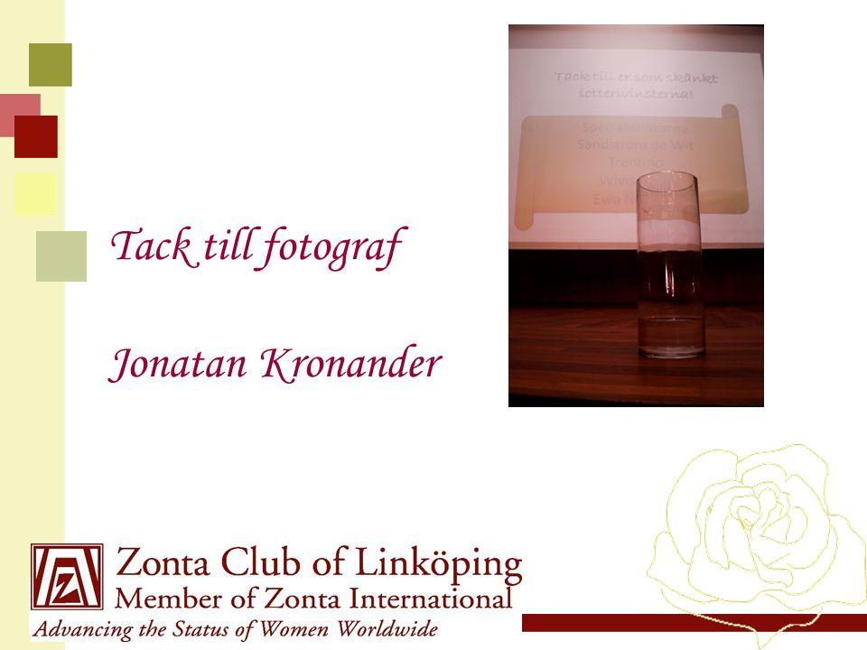 Tack till fotograf Jonatan Kronander